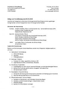 1. Nachtrag zur Vereinbarung vom 4.10.2014-D